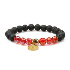 Fashion Natural Colorful Crystal Lava Rock Round Beads Stone Women Bracelet 10mm