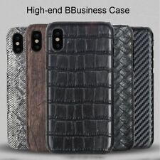 PU Leather Cover Case Phone Shell Soft Carbon Fiber Cover for Apple iPhone X SM