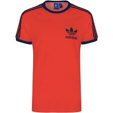 New Adidas Mens Trefoil Orange California Tees Crew Neck Retro T-Shirt S M L XL
