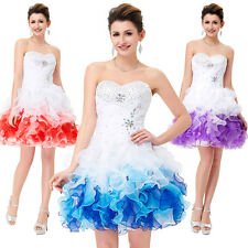 Xmas~ Short Mini Quinceanera Dress Prom Formal Party Cocktail Bridal Ball Gowns
