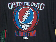 GRATEFUL DEAD SUMMER TOUR 87 T-SHIRT NEW OFFICIALLY LICENSED LIQUID BLUE S/M/L