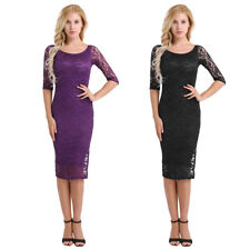 Elegant Womens Office Formal Business Lady Work Party Sheath Tunic Pencil Dress
