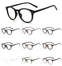 Unisex Retro Fashion Vintage Glasses Round Clear Lens Eyewear Party Lady oval