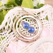 Cool Fashion Magic Time Turner Necklace Rotating Spins Hourglass Necklace YL
