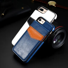 iPhone X & 8/7/6S Plus Leather Back Ultra Thin Slim Hard Hybrid TPU Case Cover
