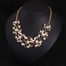 Women new Pearl Necklaces & Pendants Leaves Statement Collares Ethnic Jewelry