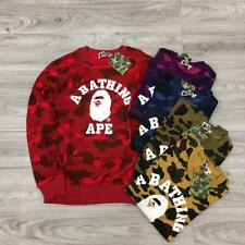 Men's Japan Version Bape colorful Camo Monkey Pattern A Bathing Ape Sweater 5Sz.