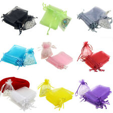 100pcs/lot 7x9cm Organza Bags Wedding Valentines Pouches Jewelry Packaging Bags