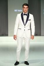 New Groomsmen Tuxedos Shawl Lapel Best Man Suits White Men's Suits Wedding Wear