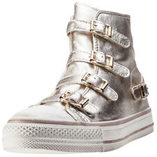 Ash Virgin Womens White Leather Casual Trainers Buckle Genuine Shoes New Style