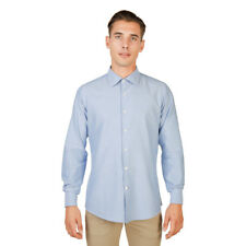 Mens Shirt Long Sleeve Smart Oxford University - OXFORD_SHIRT-FRENCH Blue Cotton