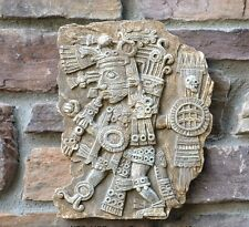 "Aztec Maya Artifact Carved Tezcatlipoca Sculpture Statue 11"" wall art home decor"