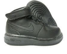 [314197-004] NIKE AIR FORCE 1 MID HIGH BLACK TODDLERS SNEAKERS Sz 3