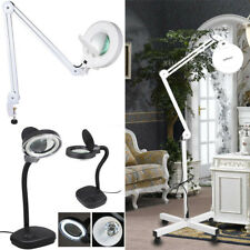 Desk / Floor Magnifier Magnifying Lamp Light Skincare Beauty Nail Tattoo Salon