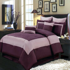 Chic Purple 8pc Wendy Comforter Set with Optional Matching 5pc Curtains