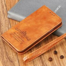 Magnetic Flip Leather Wallet Case Silicone Edge Full Cover For iPhone Samsung  E