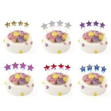 4pcs Lovely Stars Cupcake Toppers Cake Picks Baby Shower Birthday Party Supplies