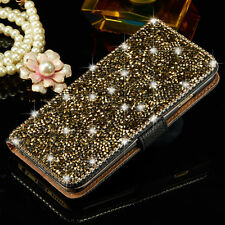 Luxury Bling Crystal Diamond Wallet Flip Leather Case Cover For Apple iPhone 8