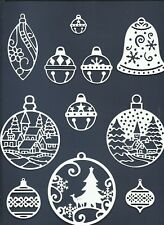 5 GROUPS COMBINED - ORNAMENTS DIE CUTS* SUB-SETS LOTS 4 - 24 PCS. CHRISTMAS READ
