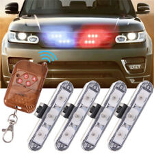 4pcs LED Car Emergency Strobe Light Bar Police Warning Flash Visor Dash Lighting