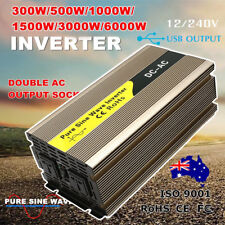 300W/500W/1000W/1500W/3000W/6000W Watt Power Inverter Pure Sine Wave 12V - 240V