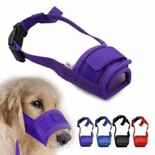 Pet Dog Adjustable Mask Bark Bite Mesh Mouth Muzzle Grooming Anti Stop Chewing