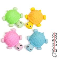 TURTLE ERASERS - PK4 TOY PARTY BAG FILLER novelty gifts games and gadgets