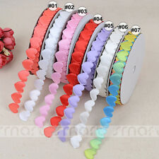 20 Yards Mixed Colors Lace Trim Craft Sewing Embellishment Heart Ribbon 1.6cm