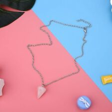 Fashion Triangle Conical Crystal Quartz Natural Stones Pendant Necklace Jewelry