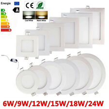 10X 6W-24W Dimmable Epistar Recessed LED Panel Light Ceiling Down Lights Lamp AS