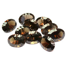 NATURAL SMOKY QUARTZ OVAL CONCAVE CUT CALIBRATED LOOSE GEMSTONE CONCAVE OVAL