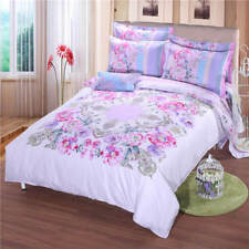 Spring Flowers Print Bedding Set Full Queen King Quilt Comforter Bed Covers Set