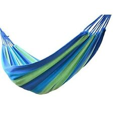 Portable Hammock Travel Camping Wide Hammock Outdoor Travel Fabric Woven Bed NEW