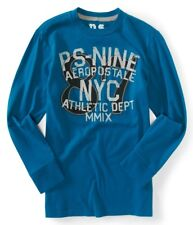 NWT PS Aeropostale Boys Size 4 Long Sleeve Embroidered Kids Graphic Tee Shirt