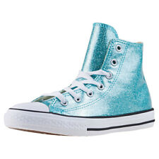 Converse Chuck Taylor All Star Hi Kids Trainers In Aqua White New Shoes