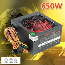 650W PSU Computer Power Supply 650 Watt For Intel AMD PC 12V ATX 12CM Fan Quiet