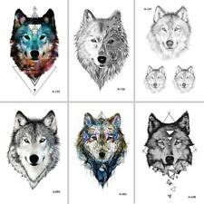 Wolf Temporary Tattoo Women Body Art Animal Waterproof Men Tattoo Sticker