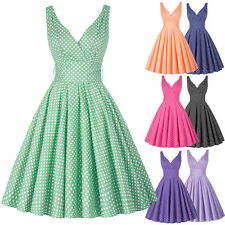 Womens Retro 50s Swing Pinup Polka Dot Evening Party Prom Dress CLEARANCE SALE!