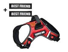 Albcorp Reflective Service Dog Vest Harness + Free BEST FRIEND Patches