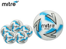 *BRAND NEW* 5x MITRE 2018 - IMPEL MAX FOOTBALL - WHITE/SILVER/BLUE SIZE 3,4,5