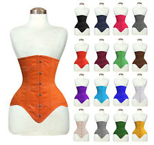 26 Double Steel Boned Waist Training Cotton Long Underbust Shaper Corset 8552C