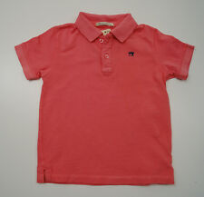 SCOTCH SHRUNK Boys Pinky Coral Short Sleeve Buttoned Collar Polo Shirt Top BNWT