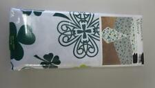 St. Patrick's Day Tablecloth White w/Shamrock Allover Printed 5 Sizes U Pick NEW