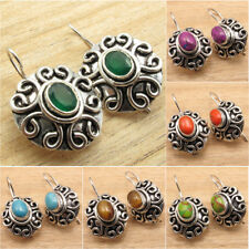 ETHNIC Jewelry ! 925 Silver Plated STONES CHOICES Oxidized Earrings