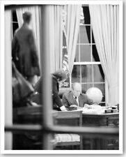 President Gerald Ford Working In The White House Silver Halide Photo