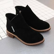Women Ankle Boots Short Martin Boots Chunky Heels Boots Female Fashion Shoes UK