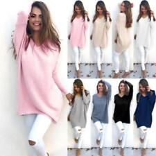 Casual Loose Long Sleeve Sweater Womens Knitwear Pullover Jumper Tops ST