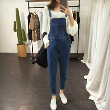 Women Adjustable Strap Overall Jeans Romper Casual Sleeveless Denim Jumpsuit WD