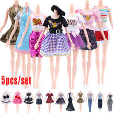 5PCS Princess Doll Dress Noble Party Gown For Barbie Doll Fashion Design Outfit