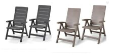 Garden Patio Chairs Reclining Pair Lounger Relaxer Rezolith Finish 4 Positions A